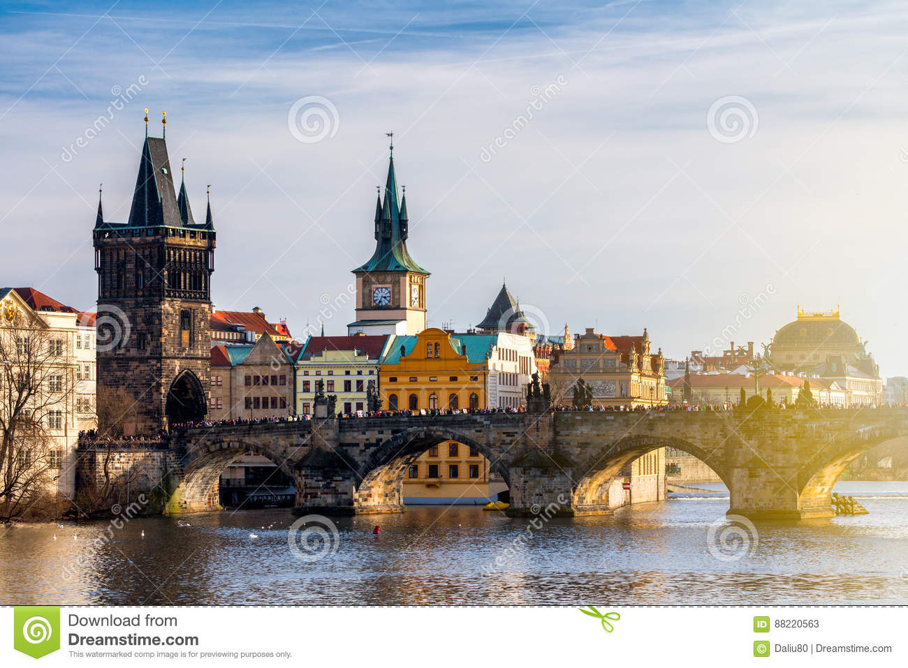 Charles Bridge Karluv Most e Lesser Town Tower, Praga, Czec