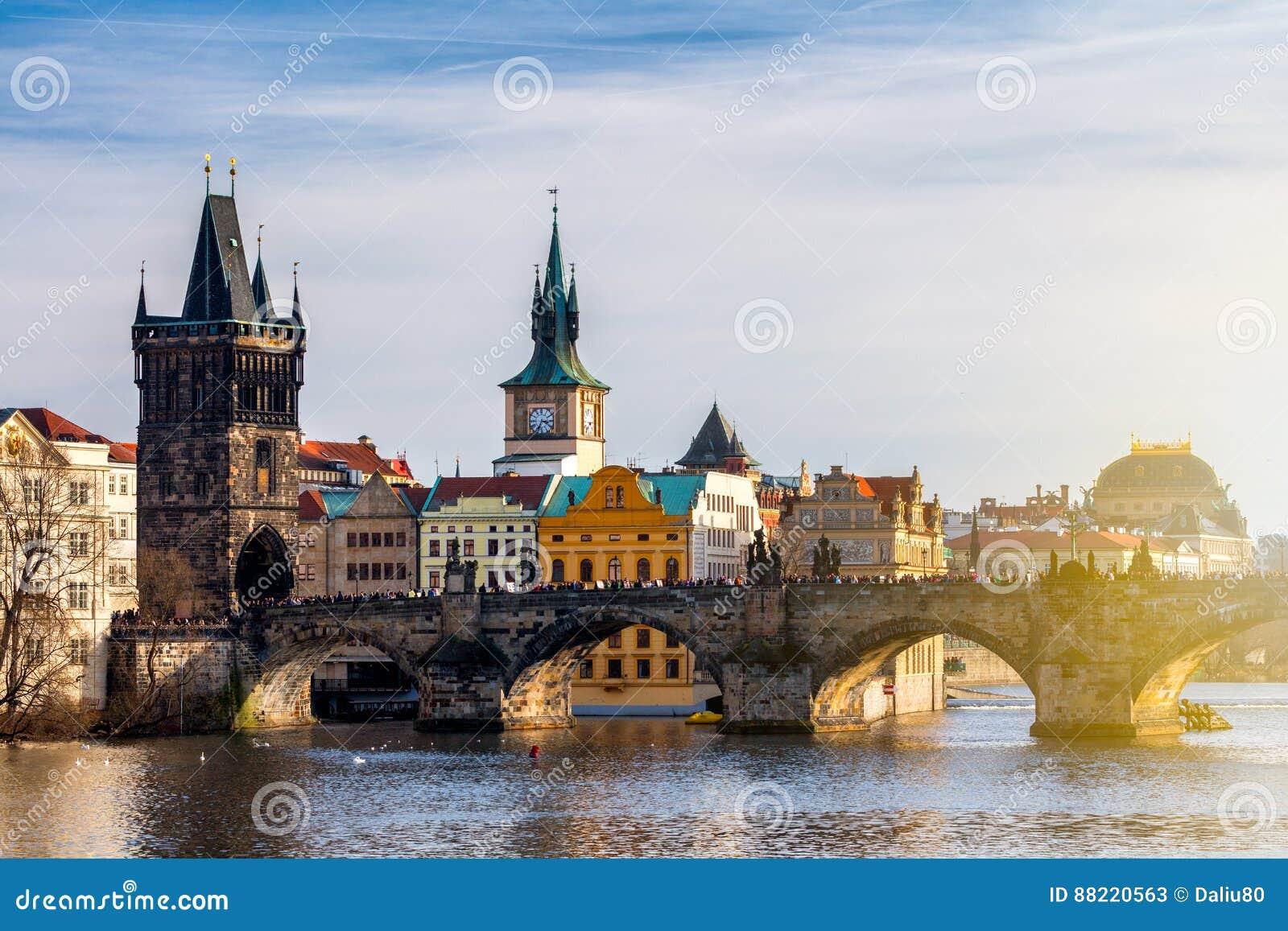 Charles Bridge Karluv Most y Lesser Town Tower, Praga, Czec