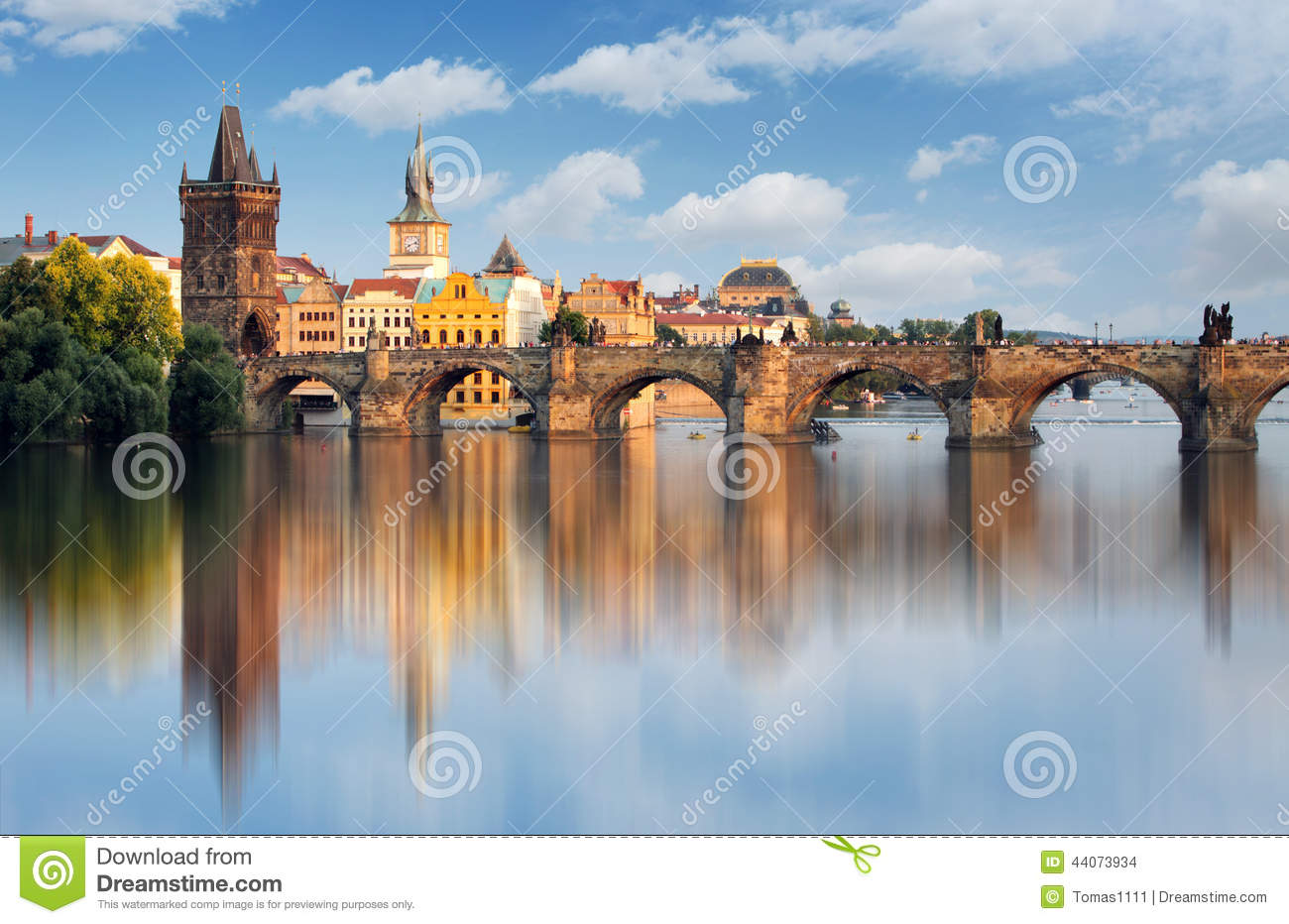 Charles Bridge In Prague Czech Republic Stock Photo