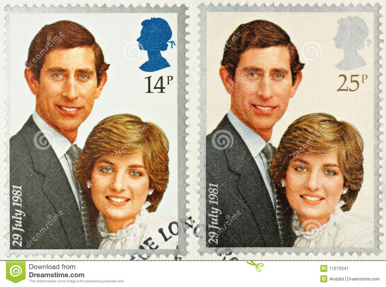 Charles and Diana Royal Wedding Stamps