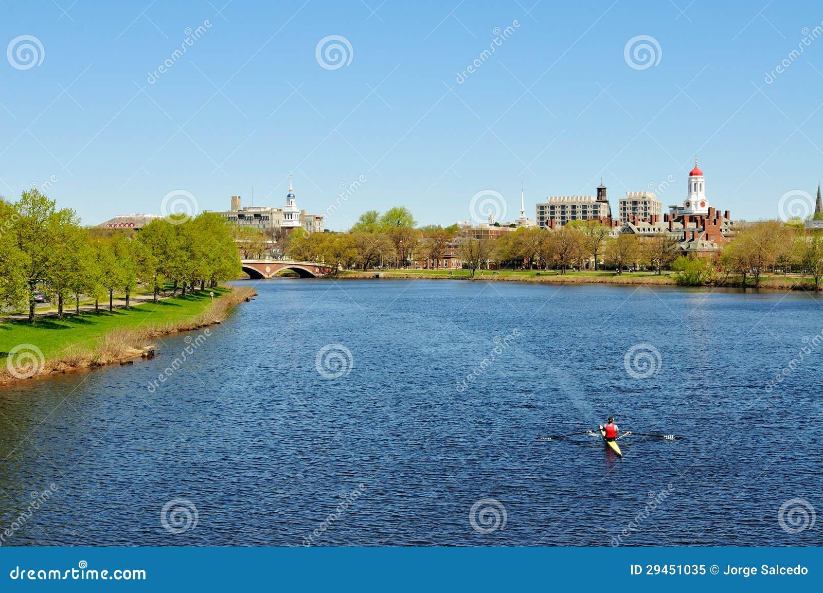 Charles River in de Lente