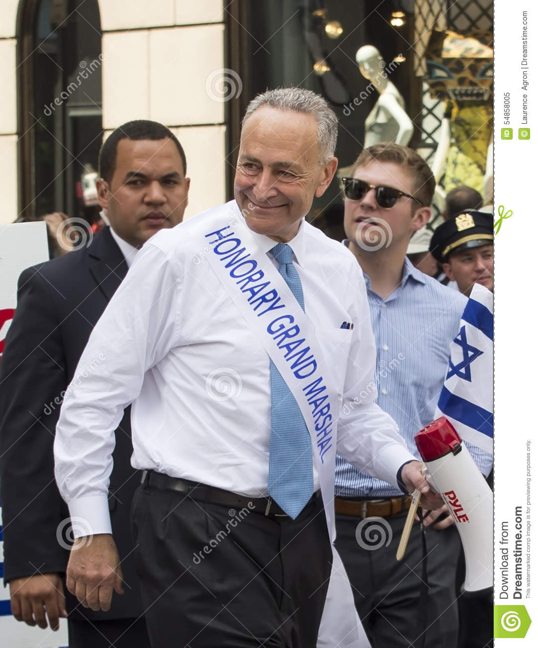 Charles Schumer bij 2015 viert Israel Parade in New York