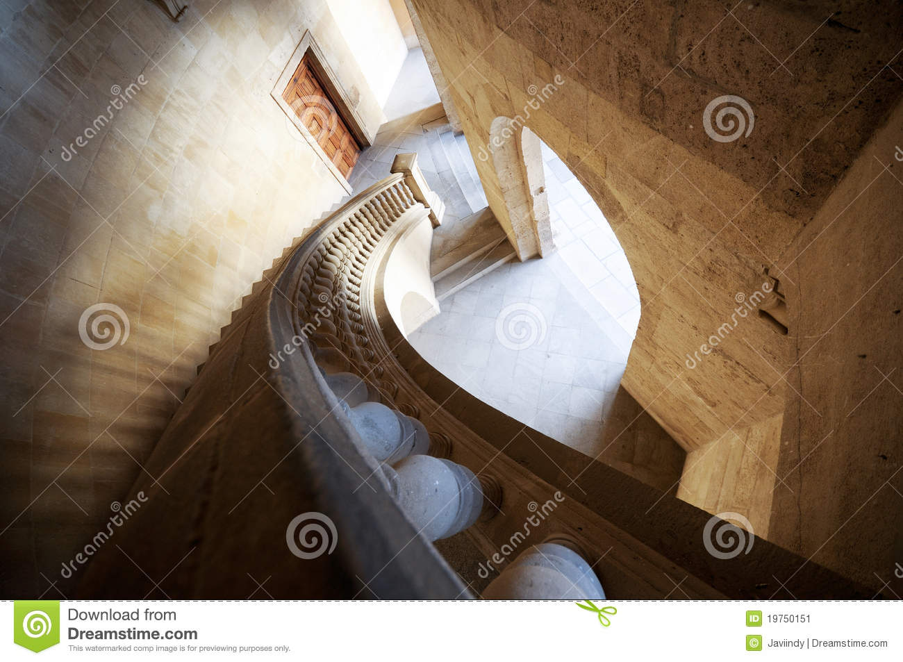 Charles V palace s stairs