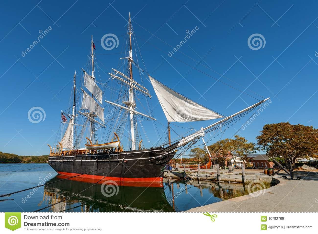 Charles W Morgan Wooden Whaleship