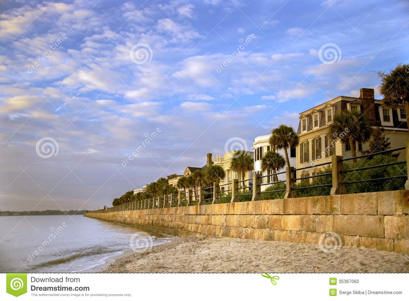 Charleston Battery Row Stock Photo Image 35367060