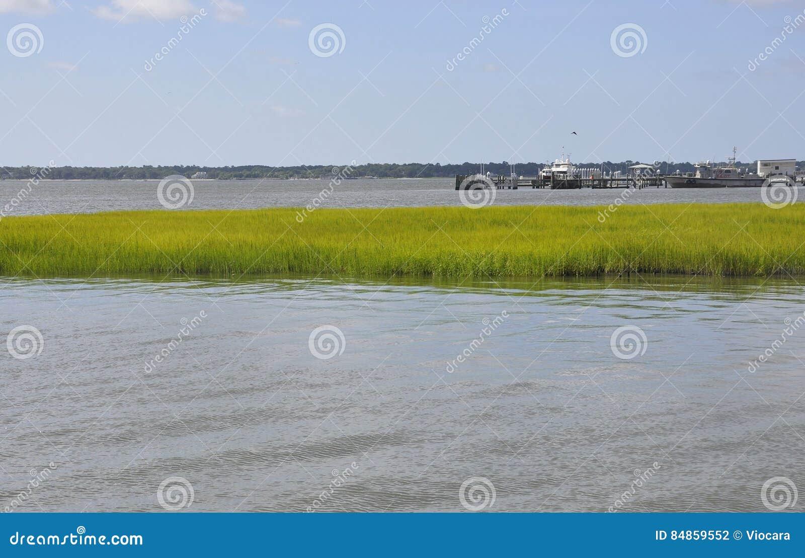Charleston Sc, am 7. August: Fassbinder River Landscape von Charleston in South Carolina