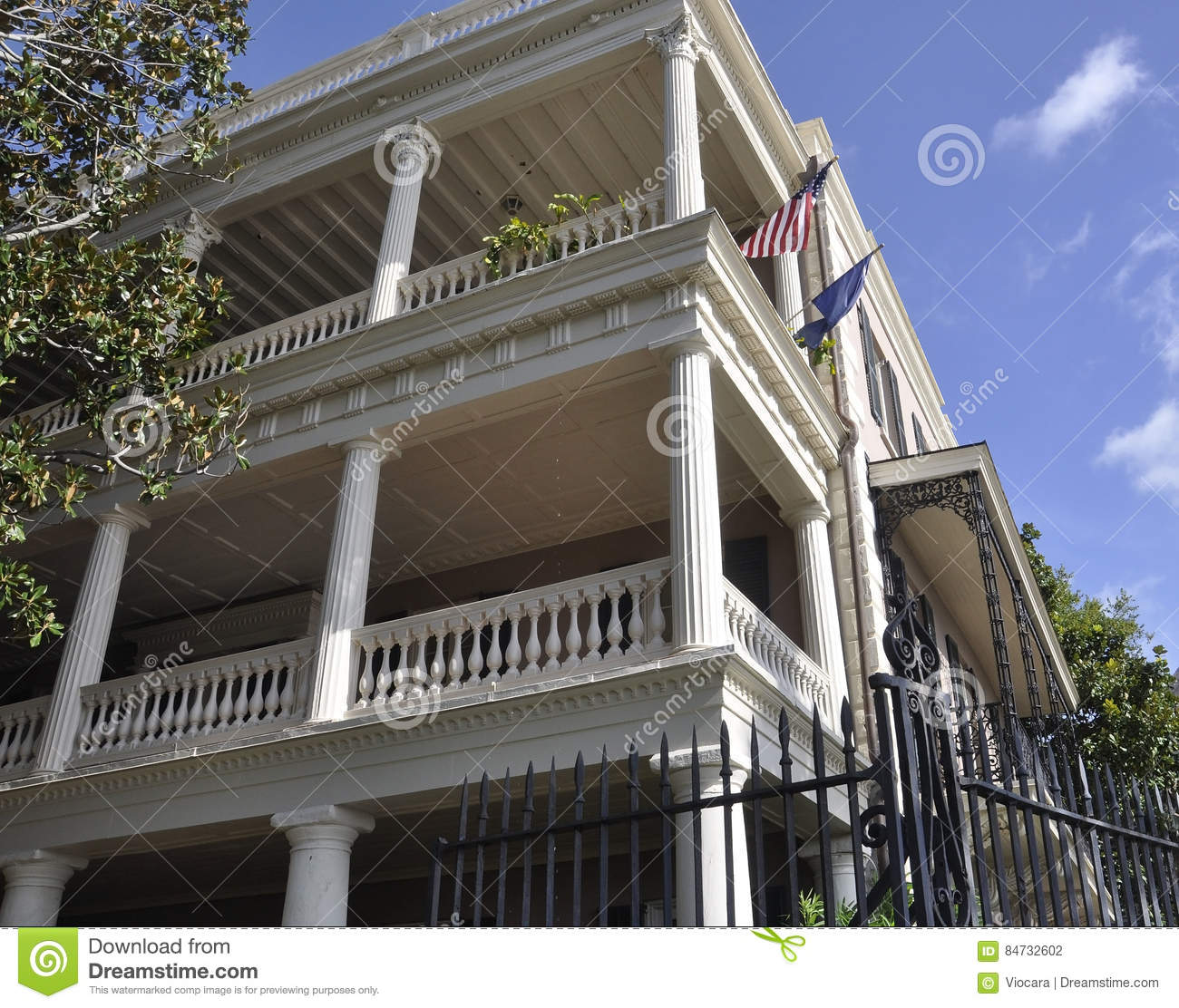 Historic Downtown Charleston Sc: Charleston SC,August 7th:Historic Colonial House From