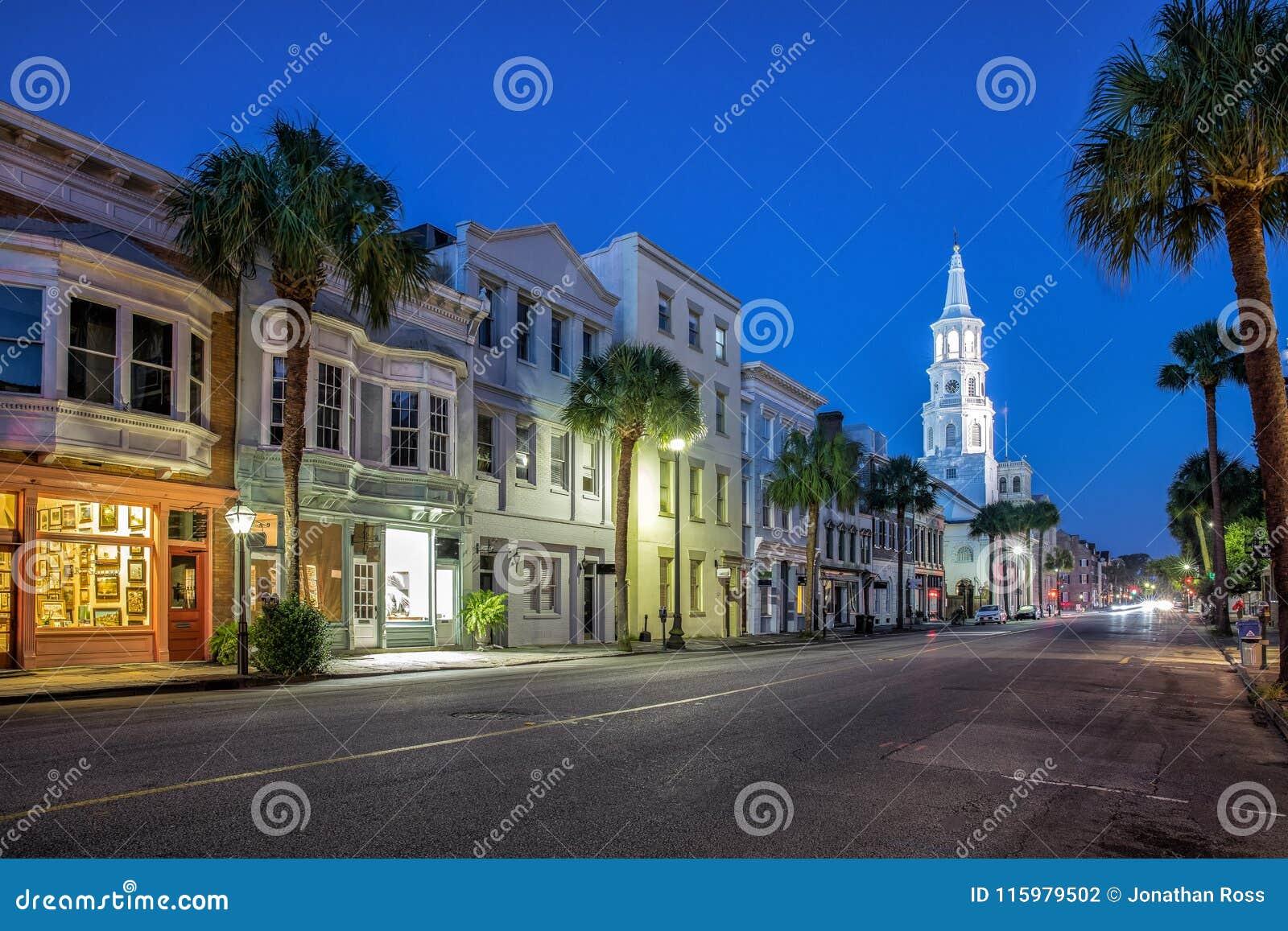 Charleston SC ulicy widok