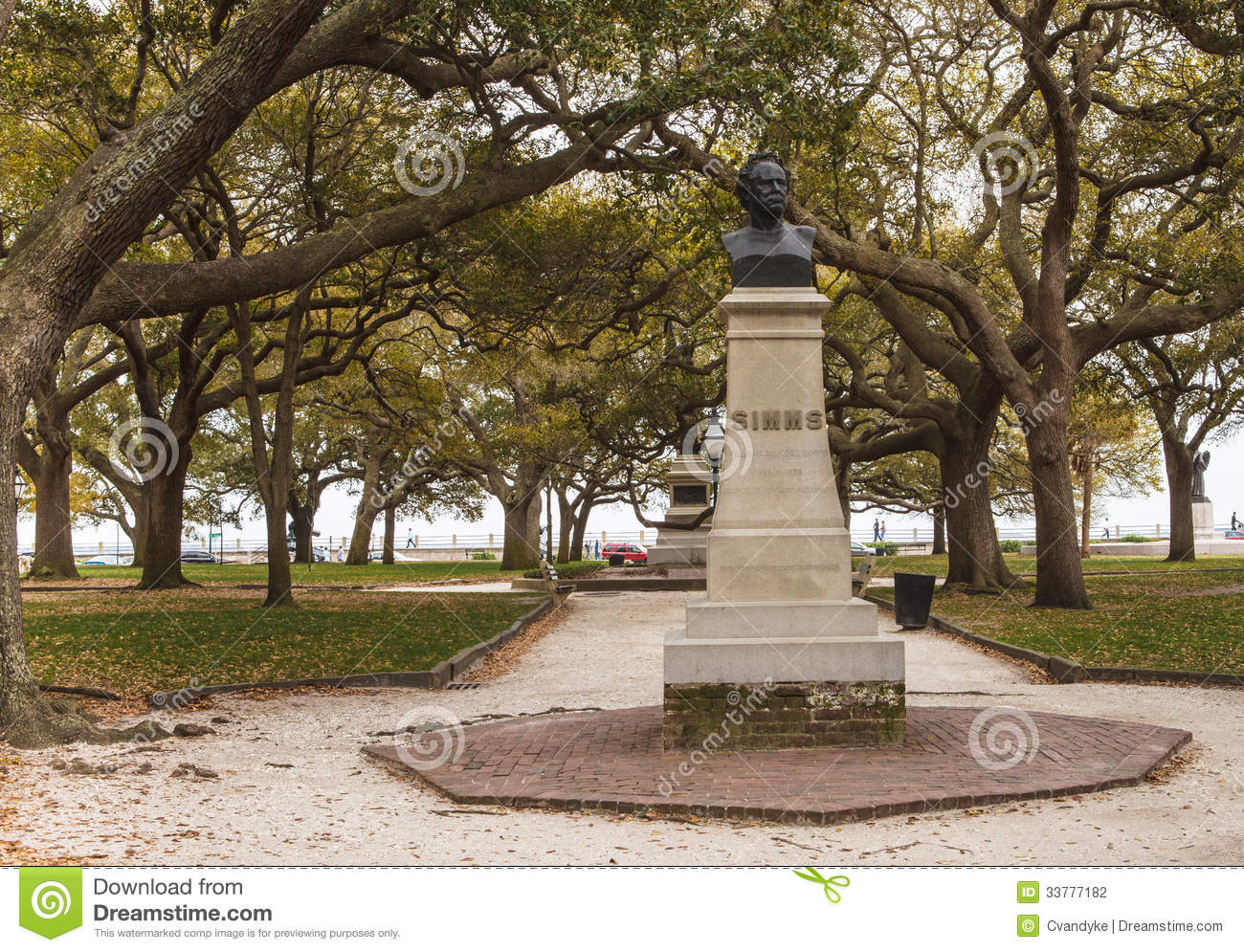 Charleston South Carolina Simms Monument Stock Photo - Image of ...