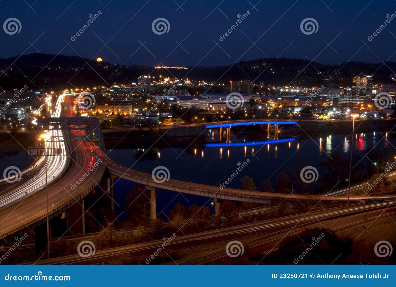 Charleston - West Virginia (natten)