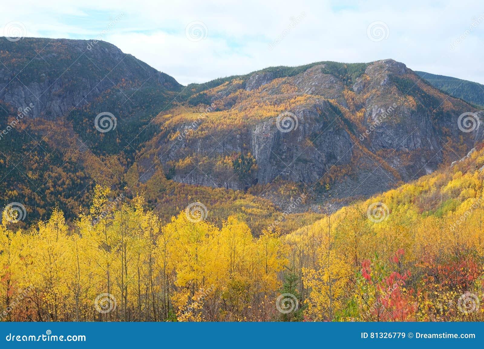 Charlevoix-Herbstlandschaft