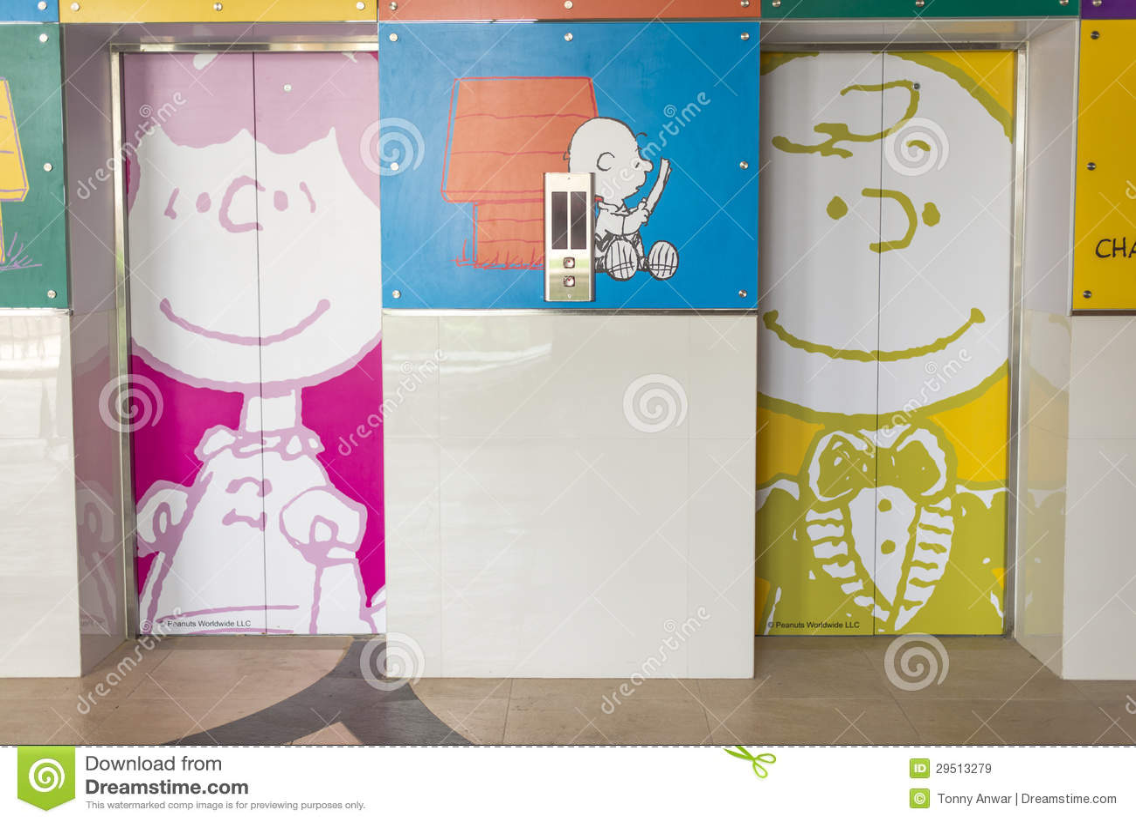 Charlie Brown Lift Lobby