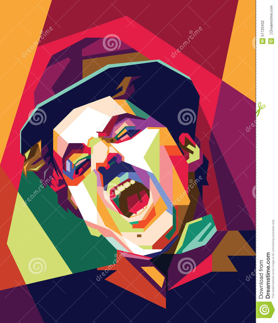 Charlie Chaplin Pop Art Editorial Photography Illustration Of Image