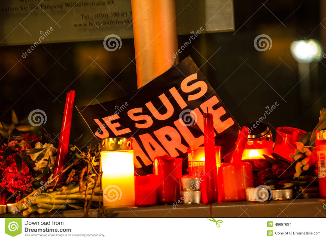 Charlie hebdo terrorism attack editorial photography Design attack berlin