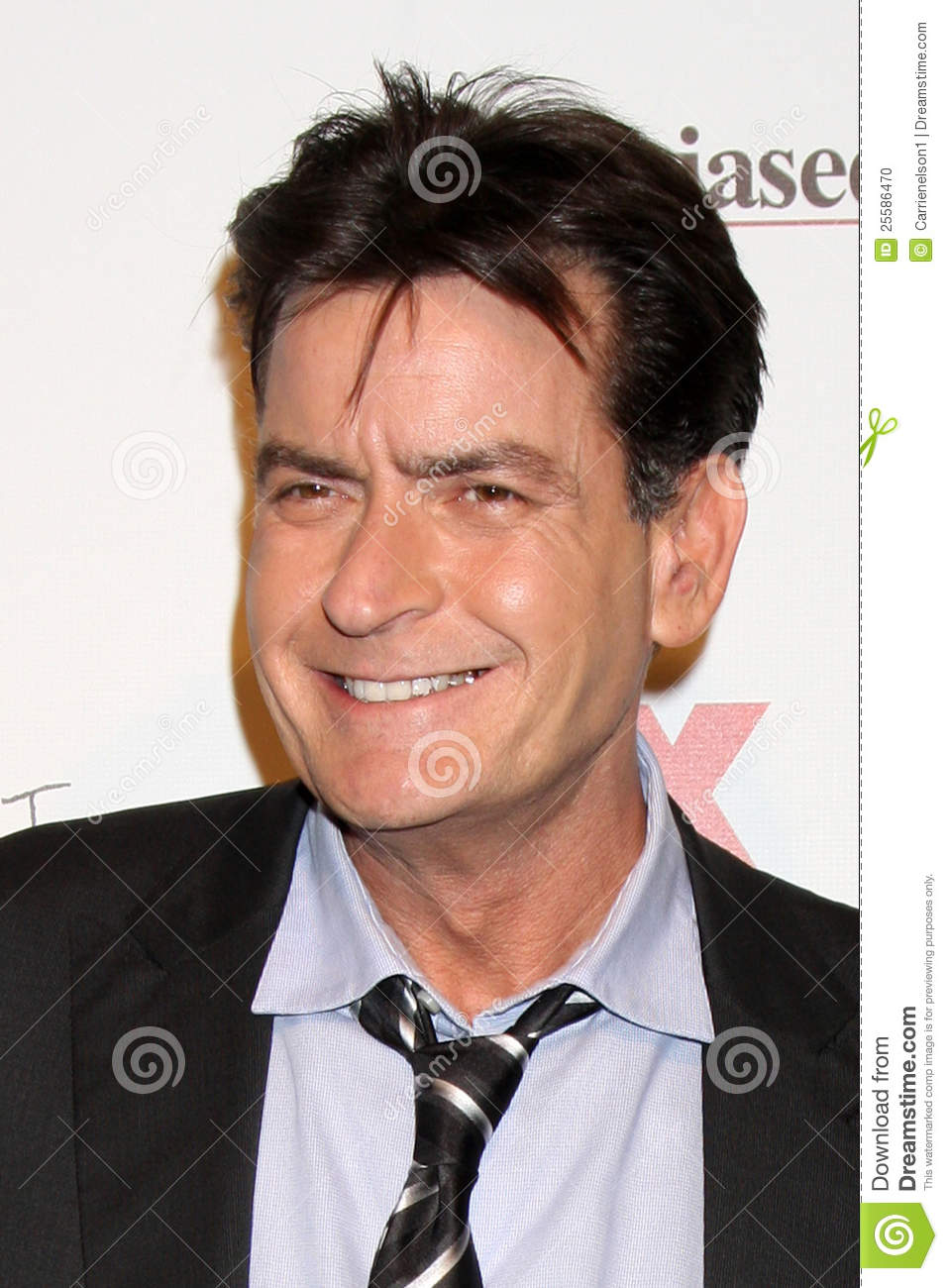 Charlie Sheen arrives at the FX Summer Comedies Party