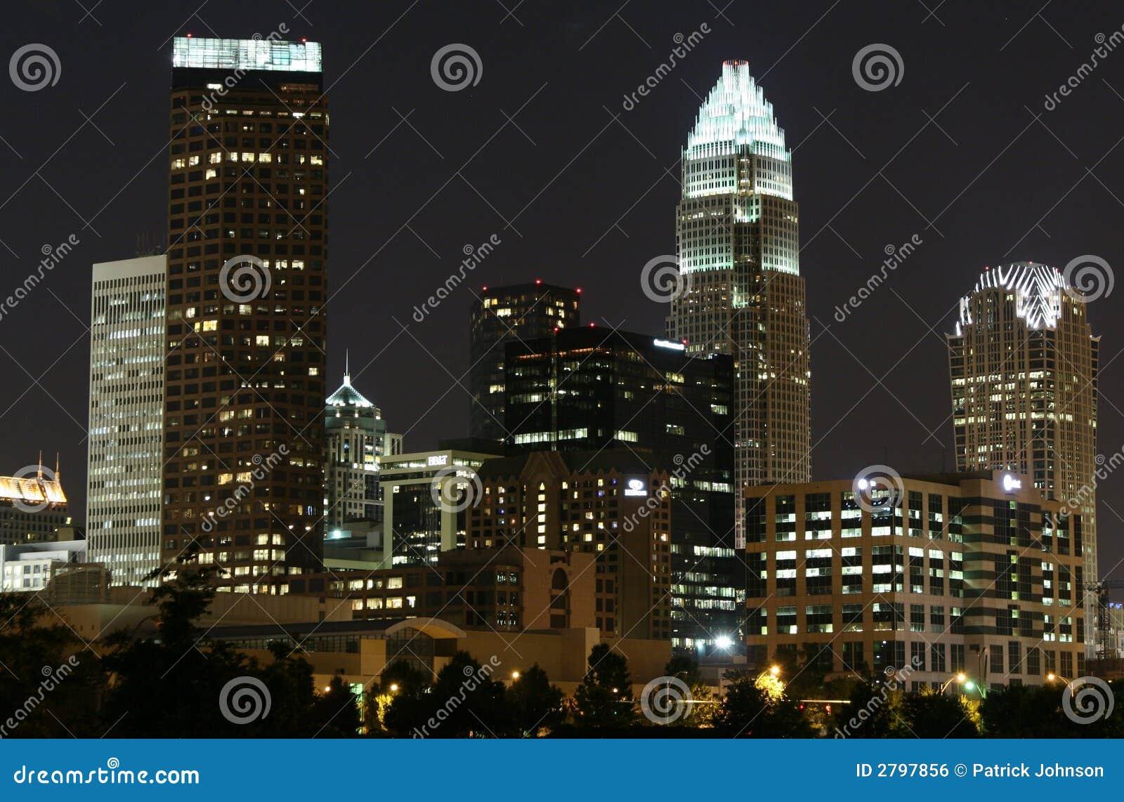 Charlotte, NC Skyline Royalty Free Stock Image - Image: 2797856