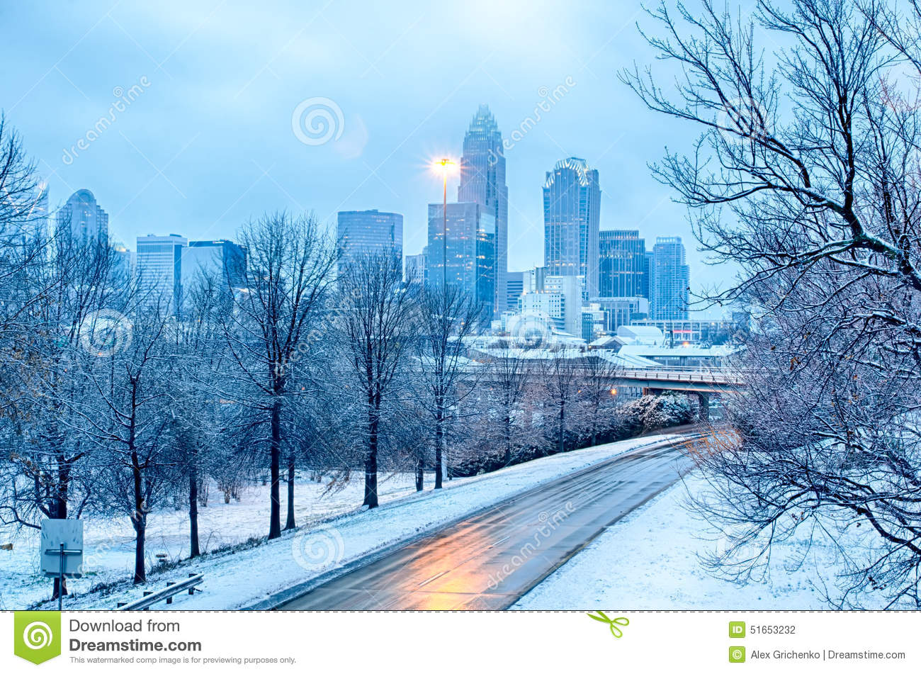 Snow Plow Prices >> Charlotte North Carolina City After Snowstorm And Ice Rain ...