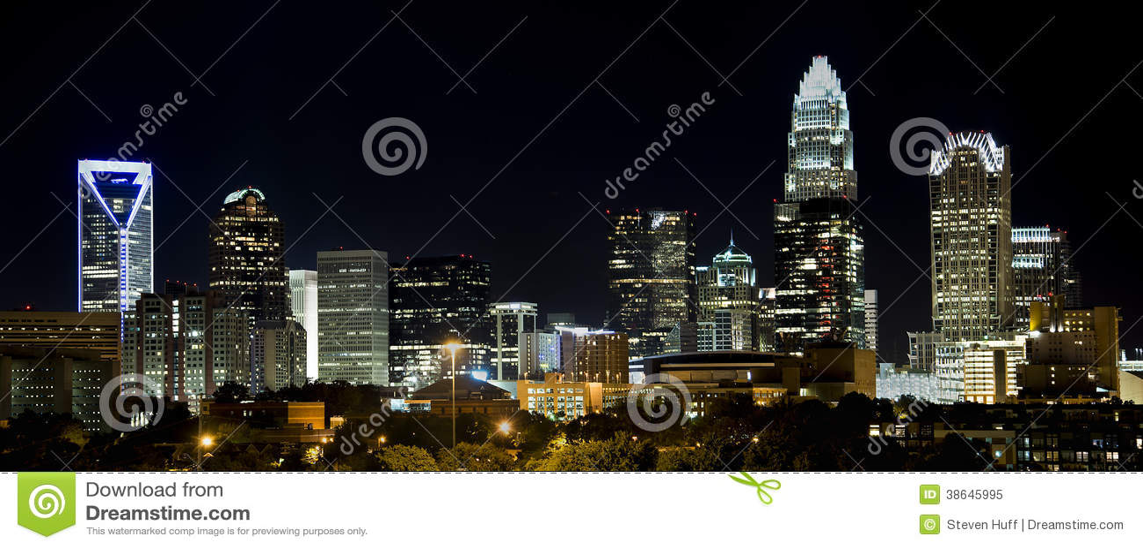 Charlotte Skyline at Night