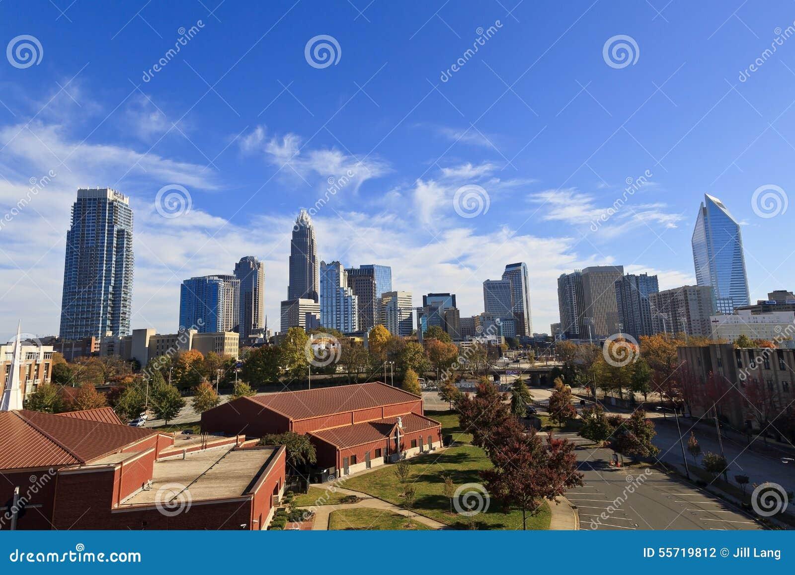 North carolina usa november 9 2014 skyline view of charlotte nc