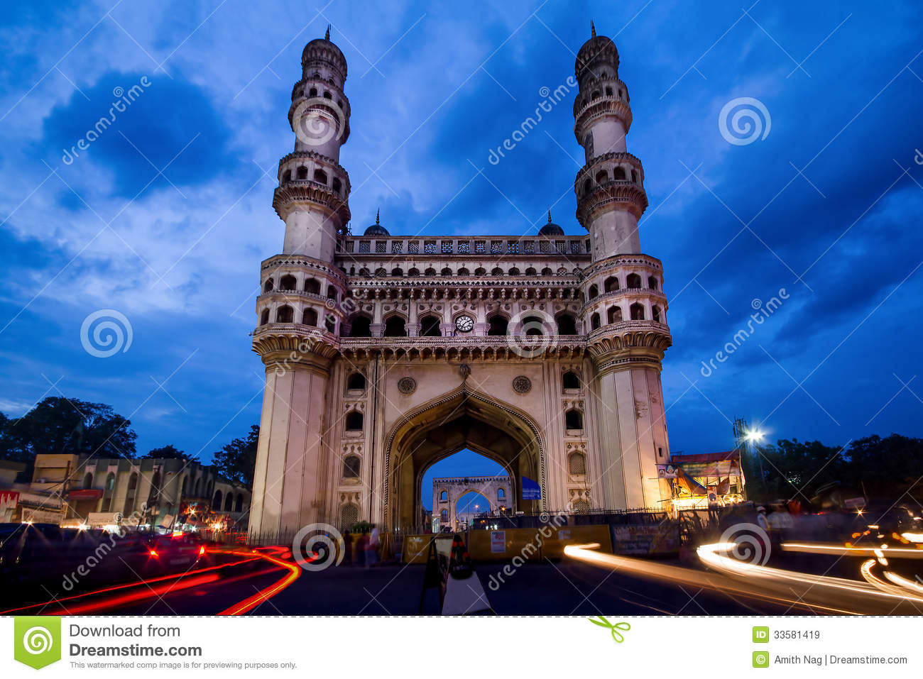 the charminar at twilight royalty free stock images image 33581419. Black Bedroom Furniture Sets. Home Design Ideas