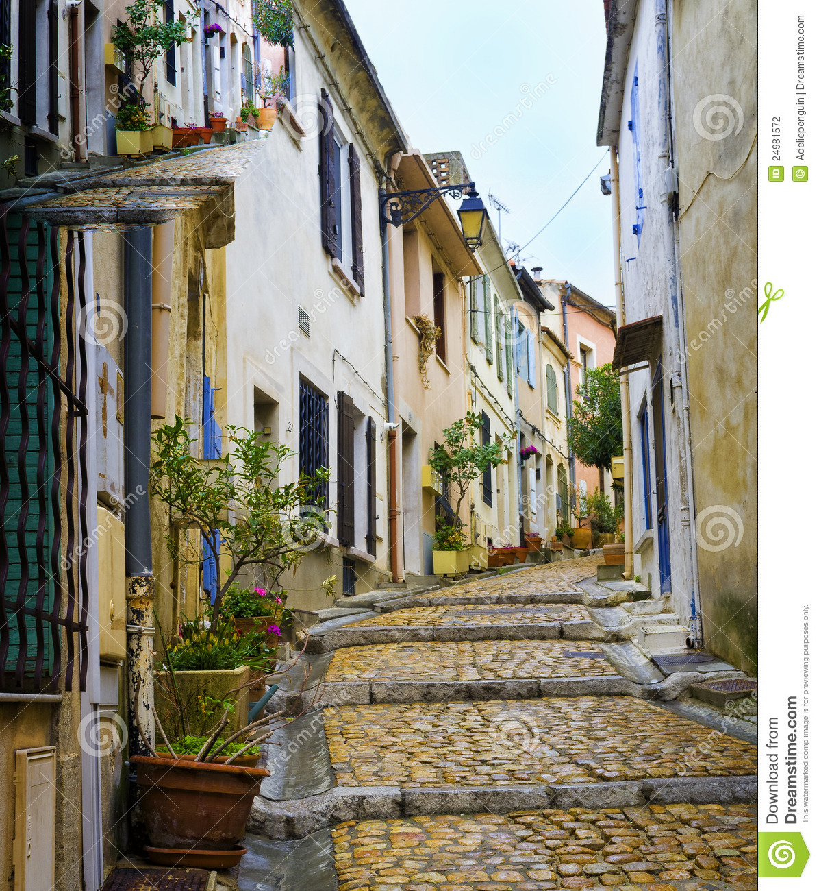 Arles France  City pictures : Charming, Colorful Street, Arles France Stock Photography Image ...