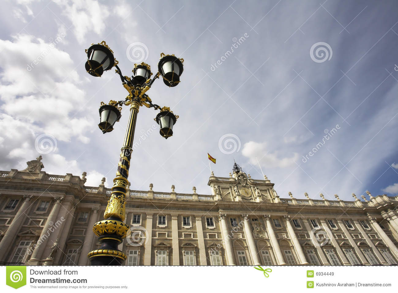 Charming lantern in style of a baroque