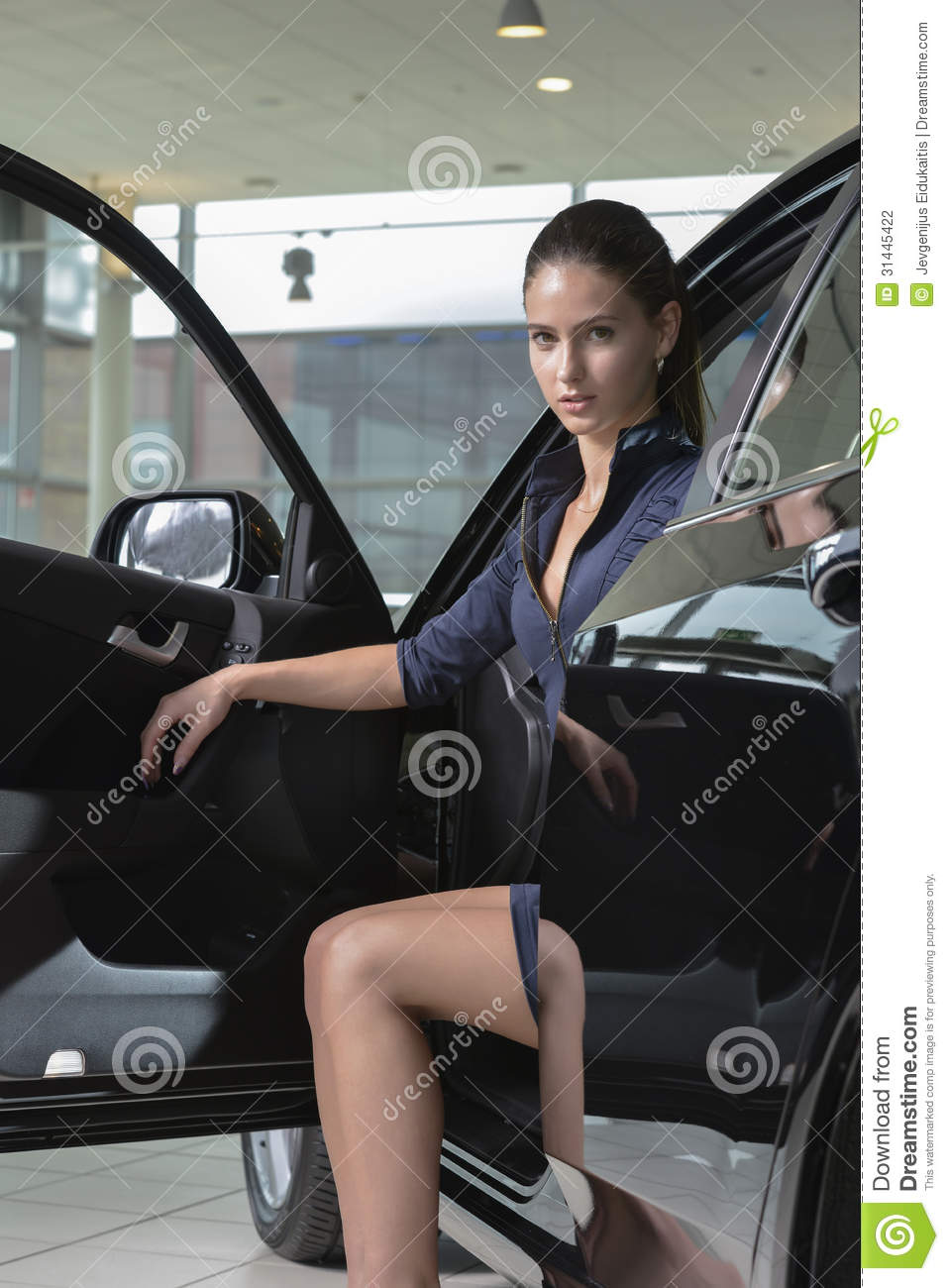 Charming Woman In The Car Stock Photography Image 31445422