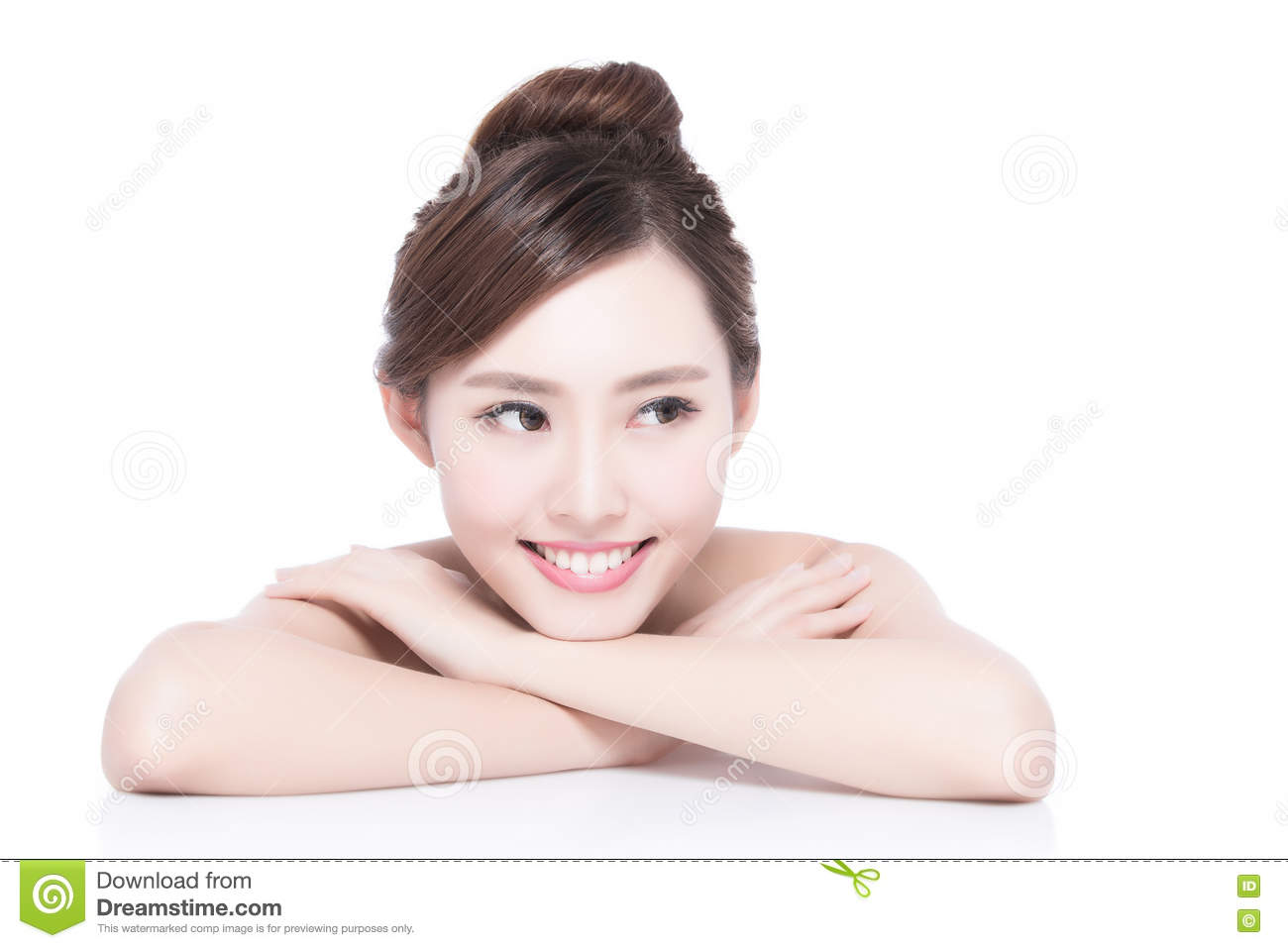 Charming woman Smile face stock photo  Image of mouth - 70547530