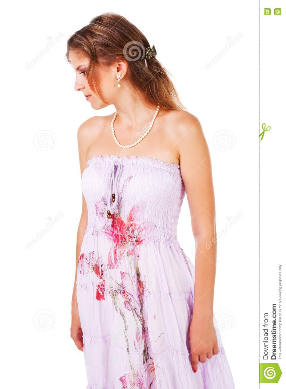 Charming young girl in dress royalty free stock images image 16155039 - Charming teenage girls image ...
