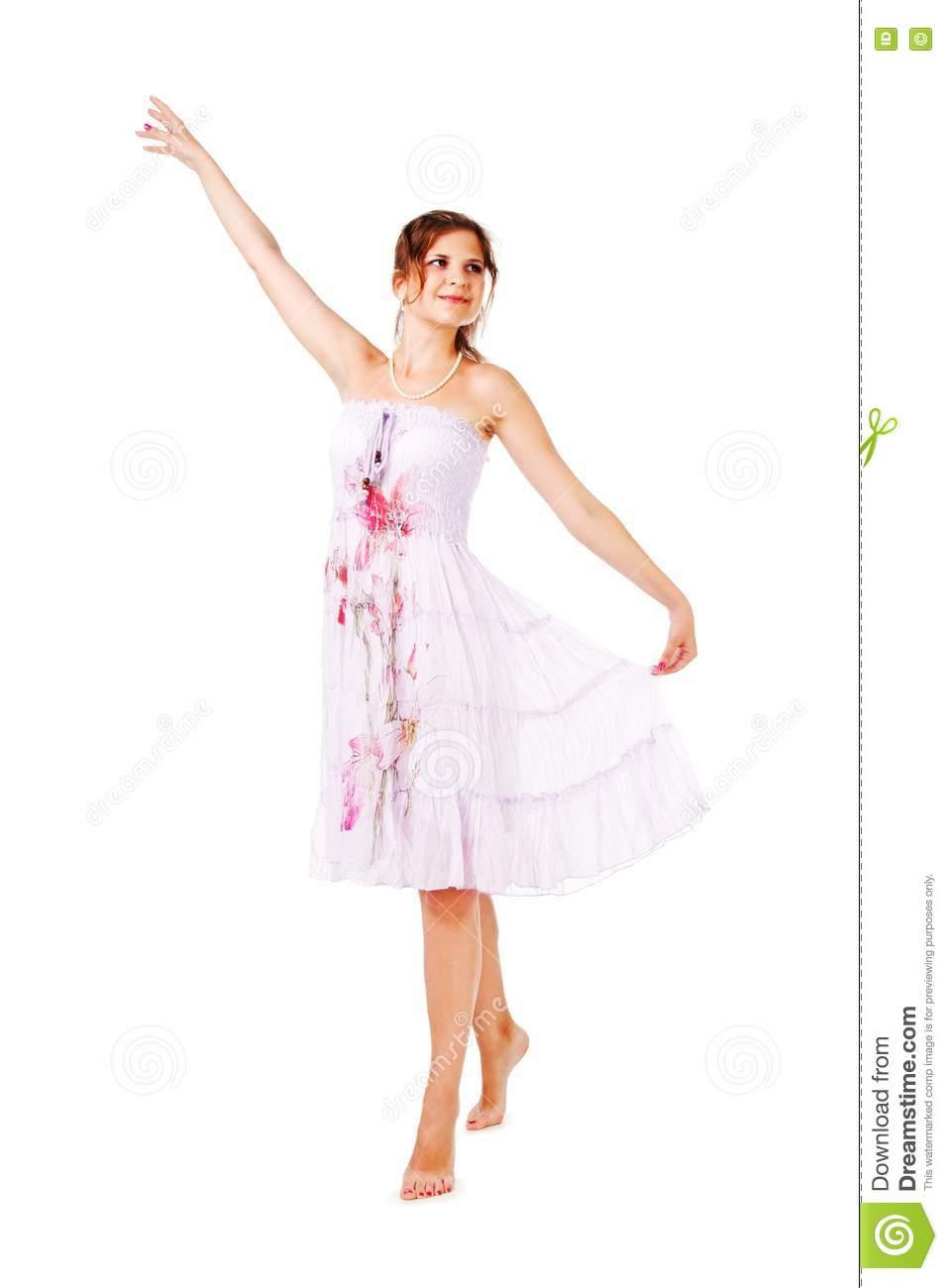 Charming young girl in dress royalty free stock image image 16635716 - Charming teenage girls image ...