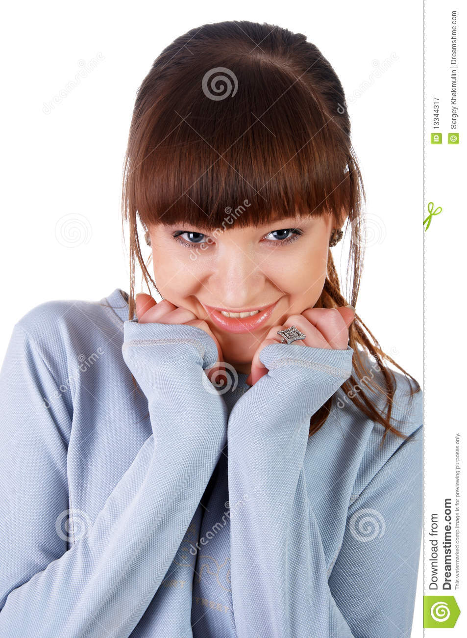 A charming young girl in a white royalty free stock photography image 13344317 - Charming teenage girls image ...