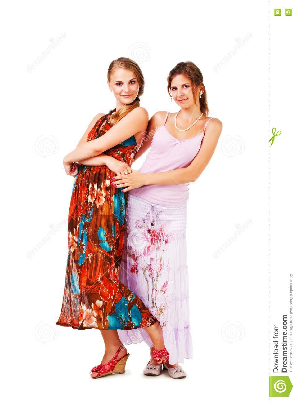 Charming Young Girls In Colorful Dress Stock Photos Image 16693813