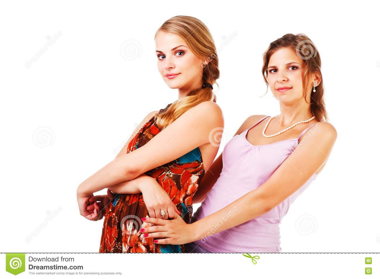 Charming young girls in colorful dress royalty free stock photos image 16693818 - Charming teenage girls image ...