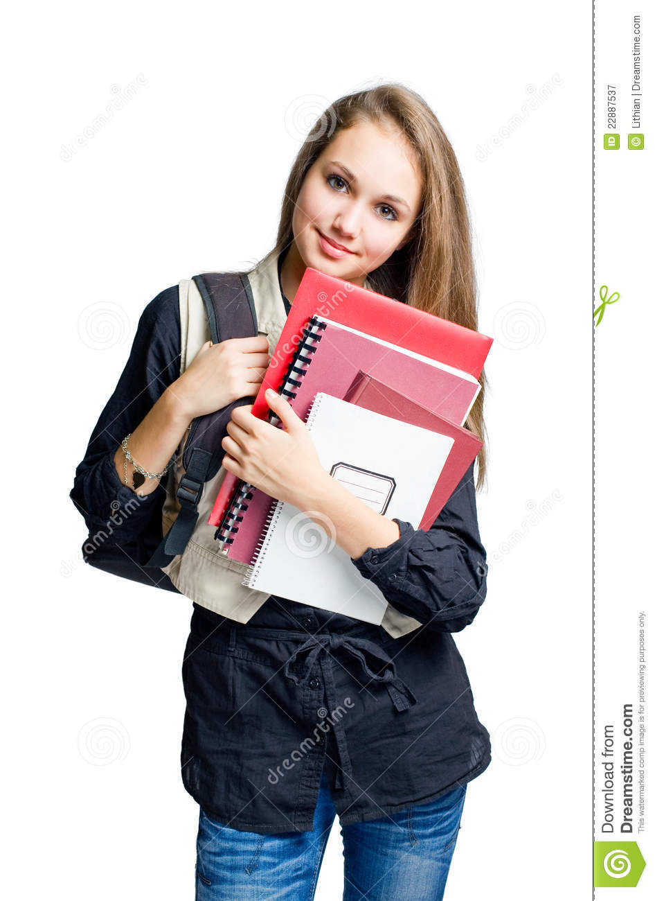 Charming young student girl royalty free stock photography image 22887537 - Charming teenage girls image ...
