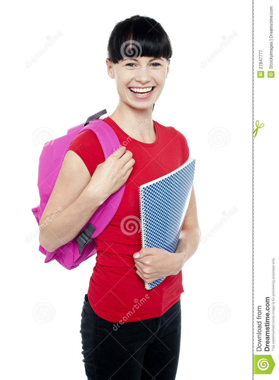 Charming young teenage girl ready to college stock image image 27847777 - Charming teenage girls image ...
