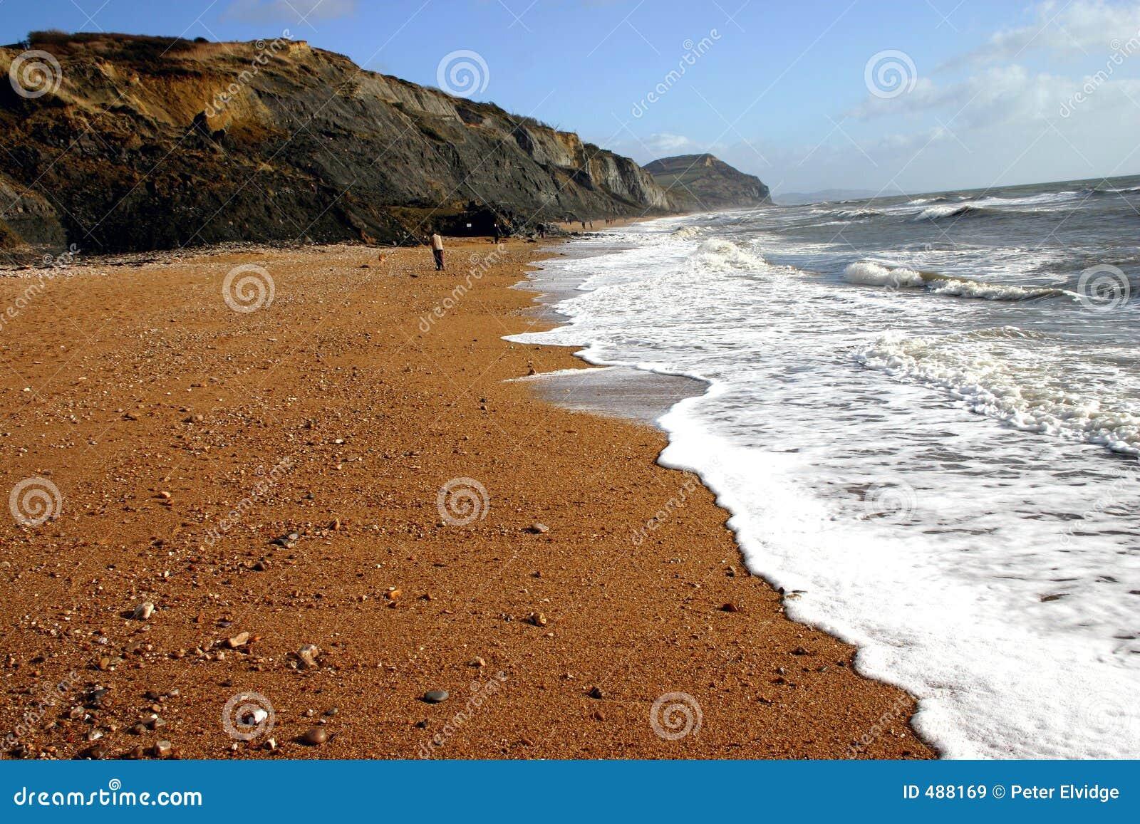 Charmouth пляжа