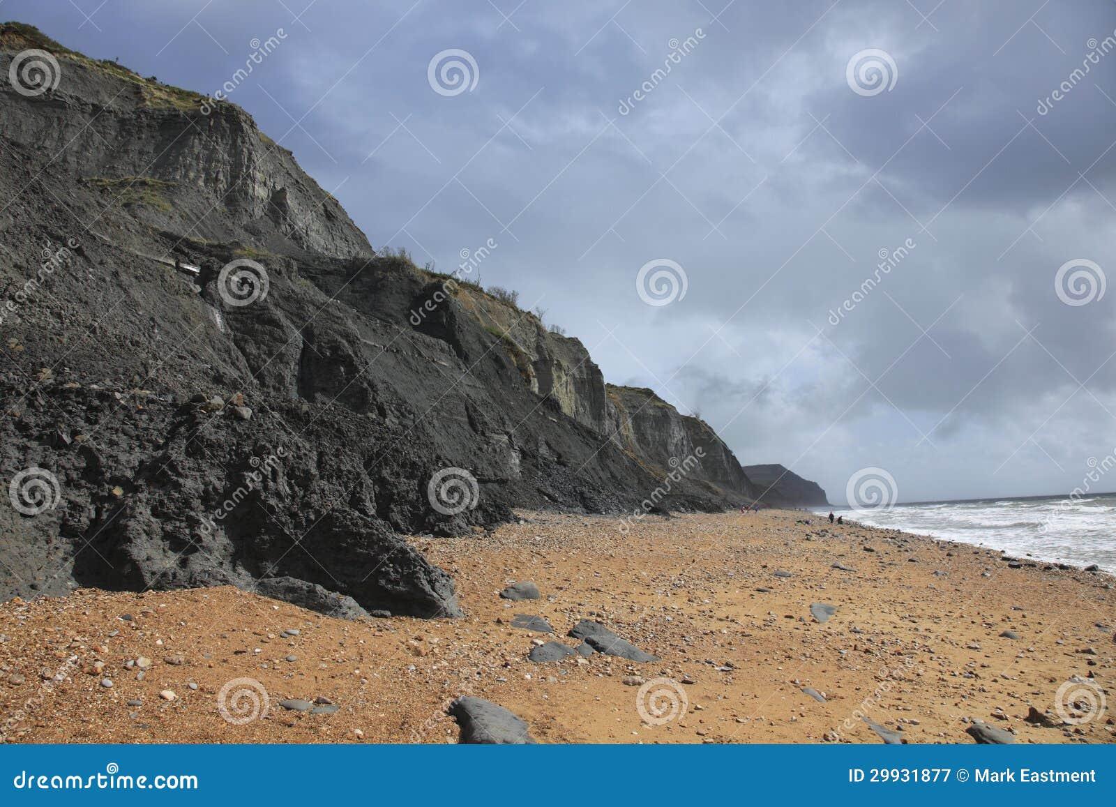 Charmouth strand i Dorset