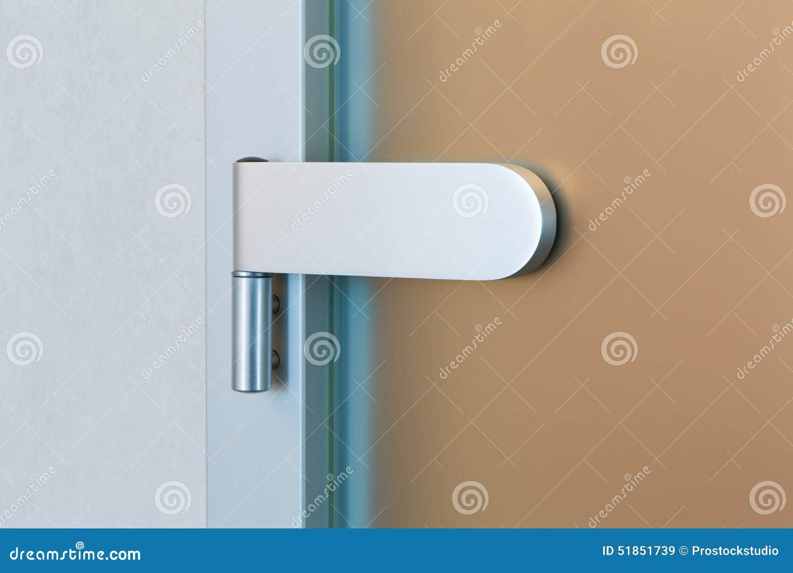charni re de porte en verre moderne image stock image du support r glable 51851739. Black Bedroom Furniture Sets. Home Design Ideas