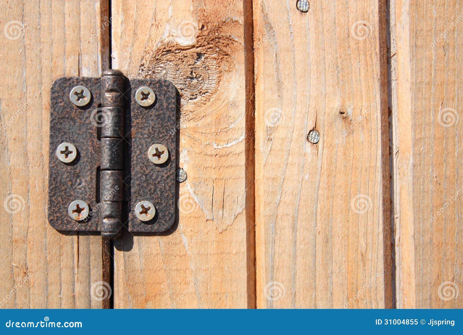 Charni re de porte photo libre de droits image 31004855 for Charnieres de porte