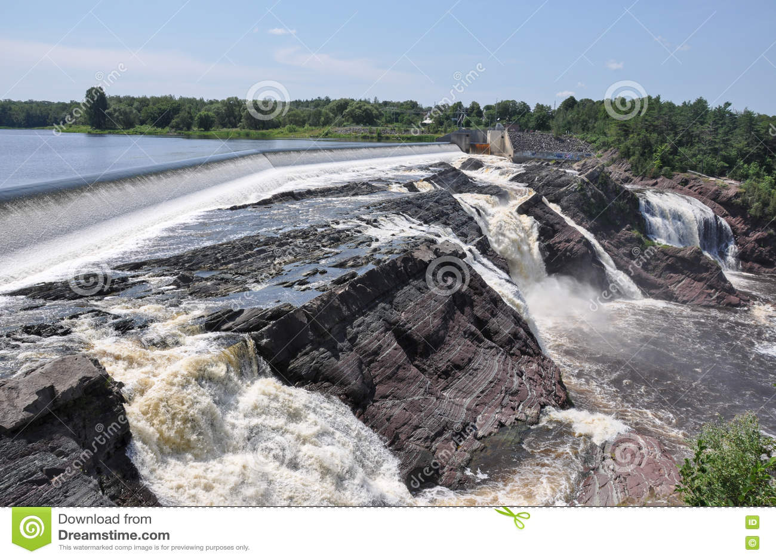 Charny,魁北克,加拿大瀑布
