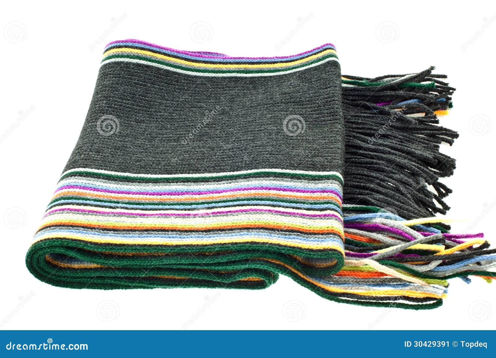 charpe ray e multicolore de laine image stock image 30429391. Black Bedroom Furniture Sets. Home Design Ideas
