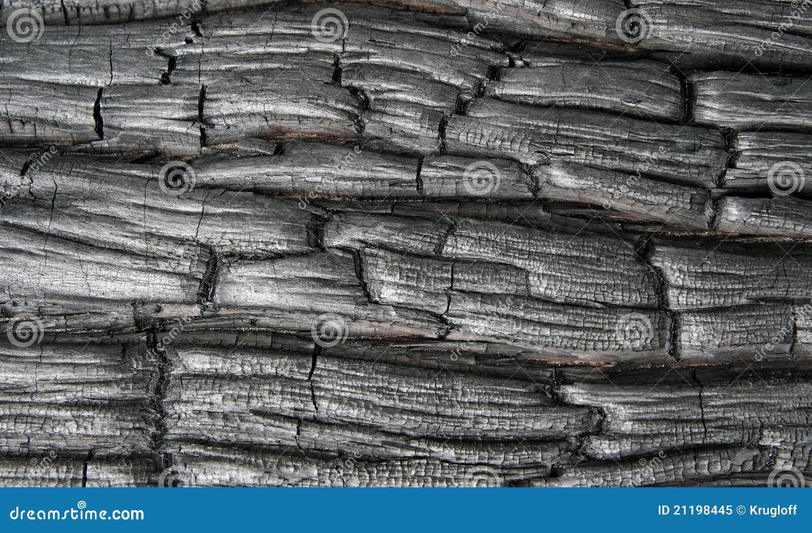 Charred wood, background