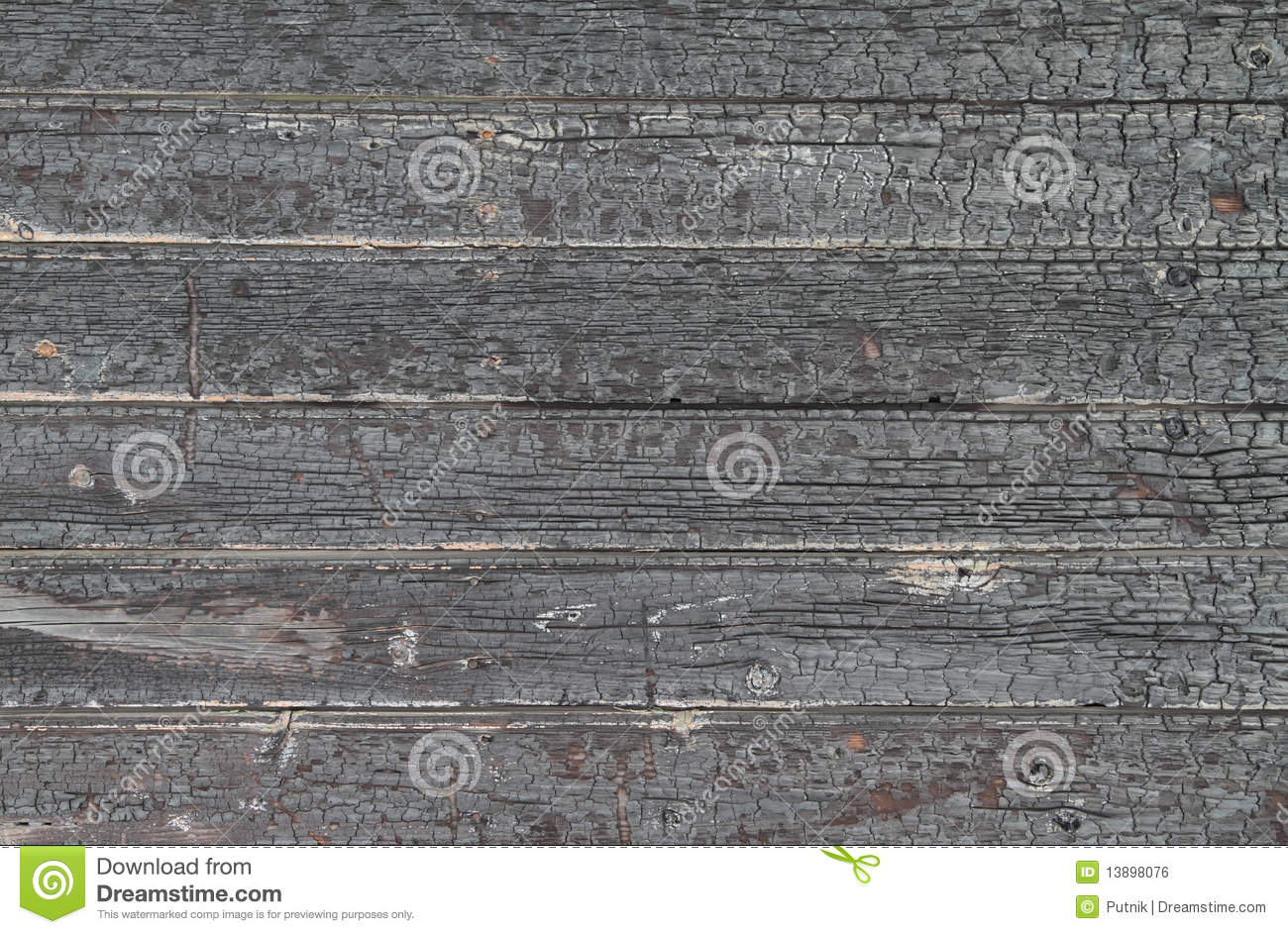 Charred wooden background
