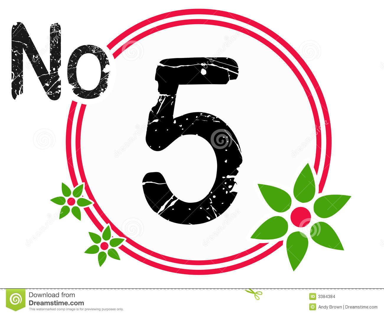 countdown chart template - chart countdown no 5 stock images image 3384384