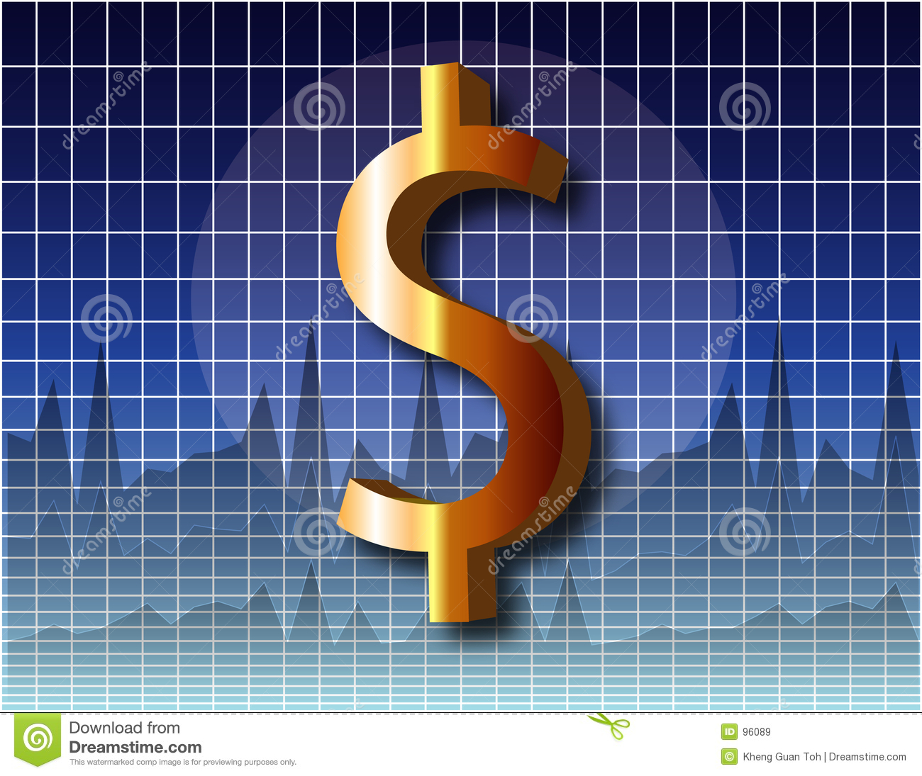 Chart Dollar Royalty Free Stock Images