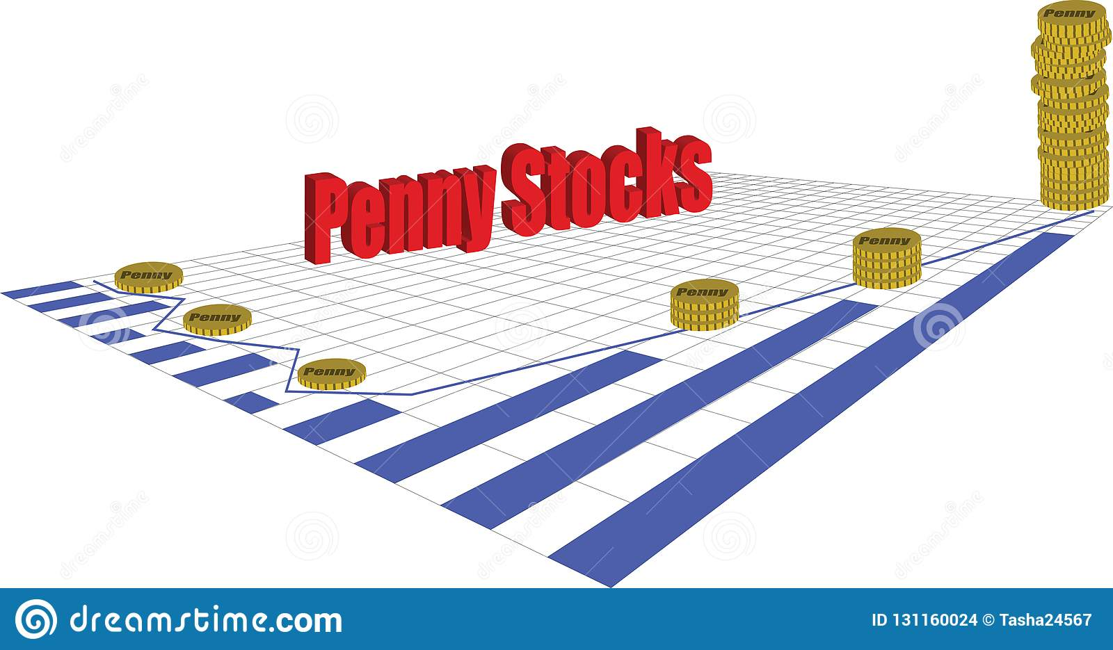 Penny Stocks stock vector  Illustration of investment