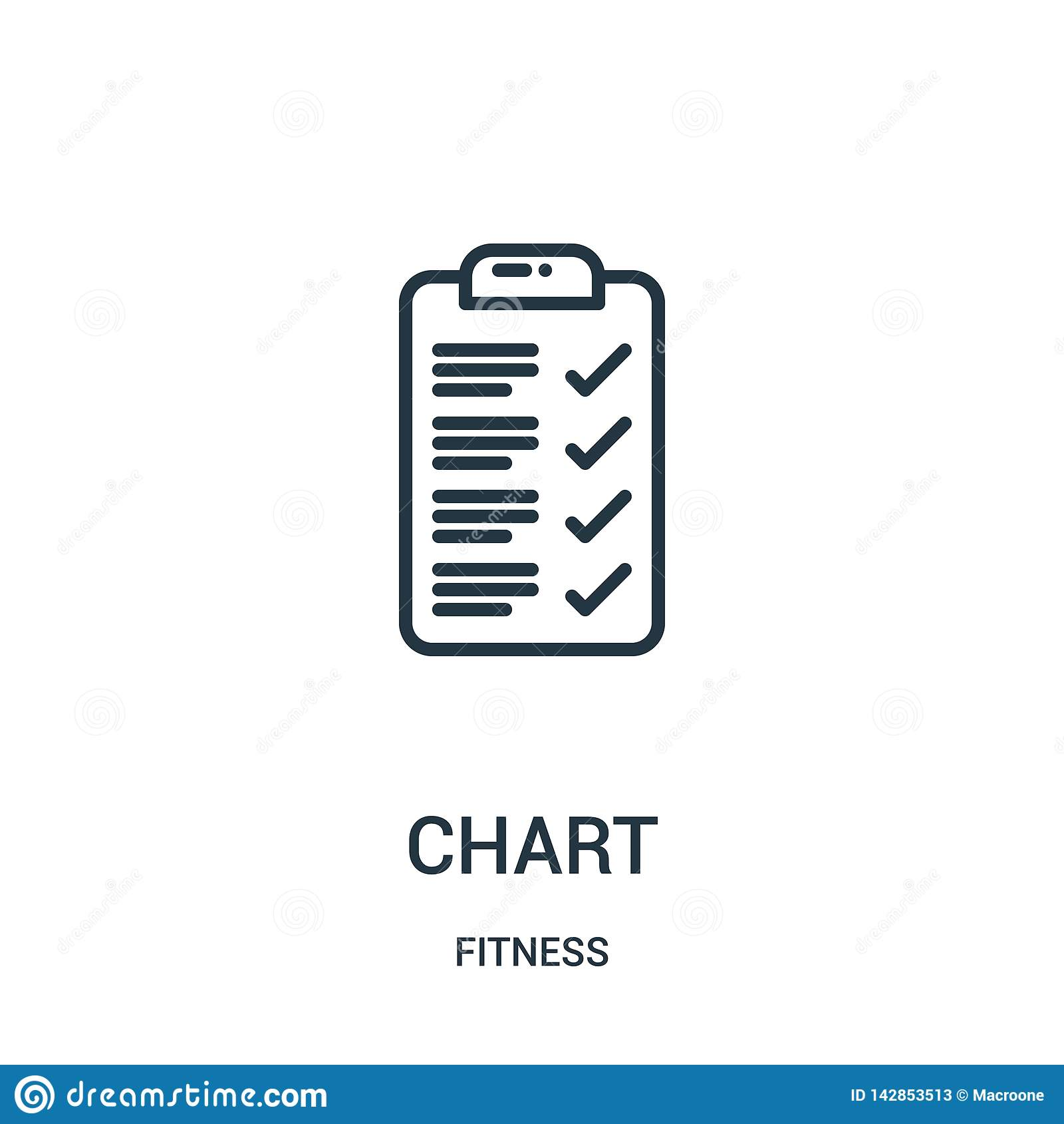 chart icon vector from fitness collection. Thin line chart outline icon vector illustration. Linear symbol for use on web and