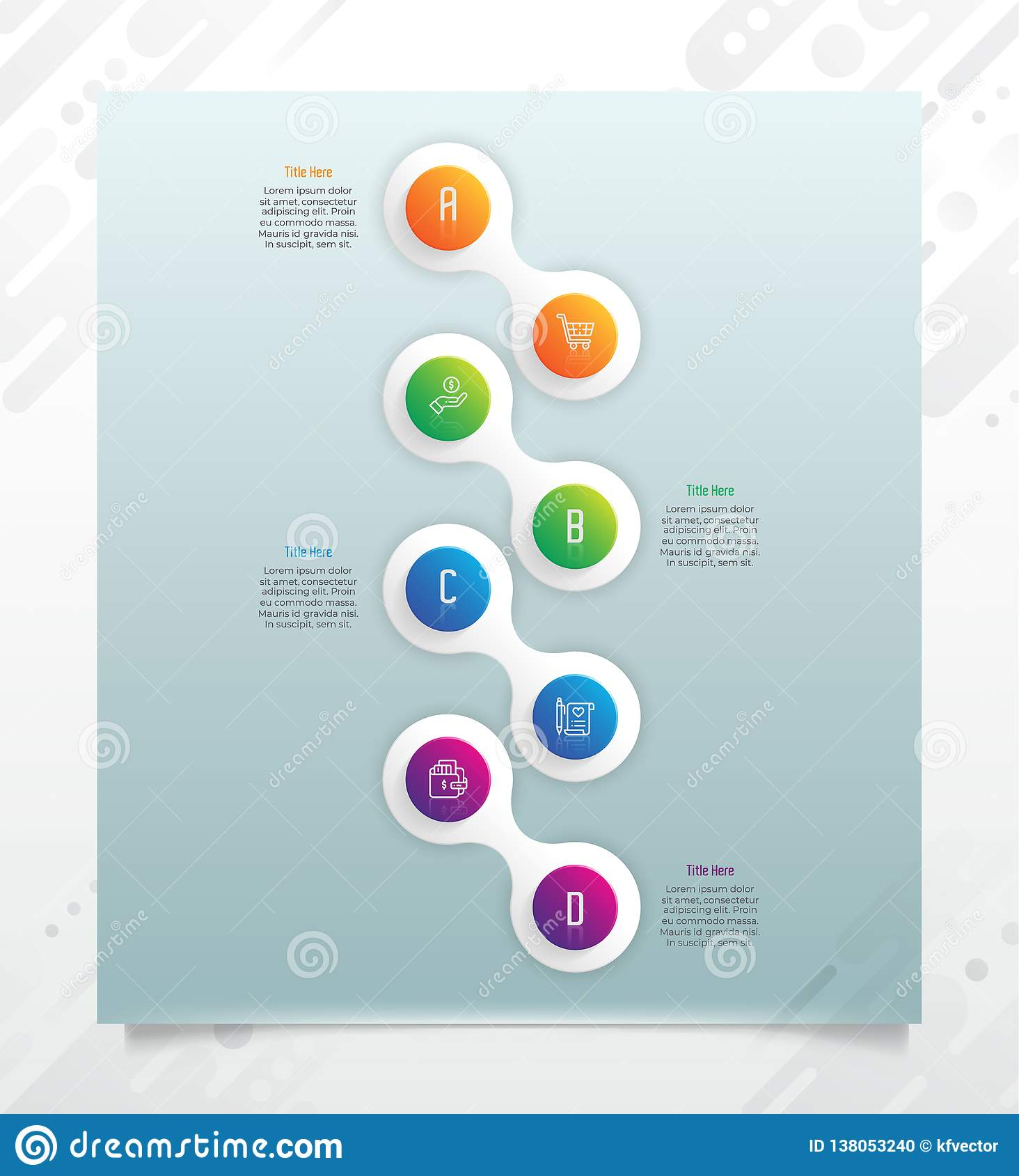 Chart infographic vector design with modern style and 4 options for business.Option infographic can be used for finance,