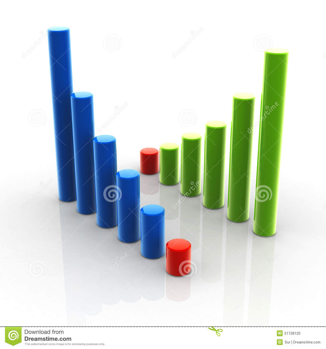 Chart up and down stock illustration image 51728120 for Table up and down but