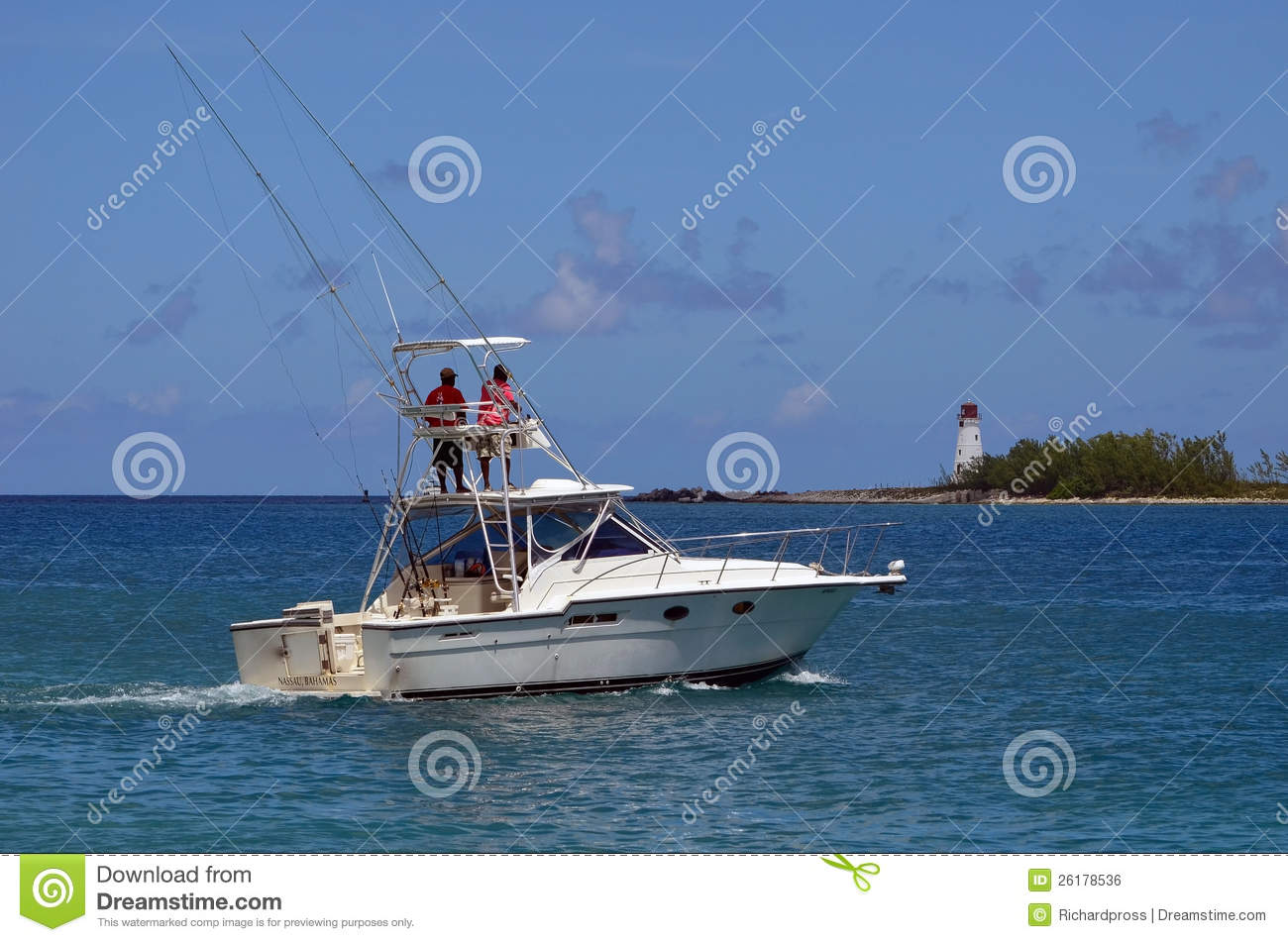 Charter sport fishing boat royalty free stock image for Nassau fishing charters